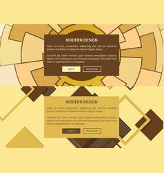modern design web yellow on vector image vector image