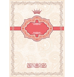 Ornate floral background Invitation vector image