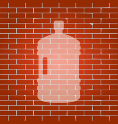 plastic bottle silhouette sign whitish vector image vector image