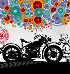 Retro motorcycle background vector