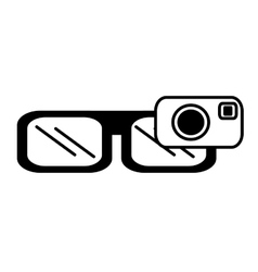 Smart glasses wearable device outline vector