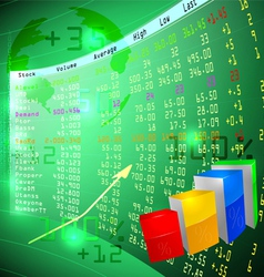 Stock exchange on screen vector