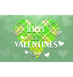 Textured Valentines Day background vector image vector image