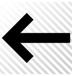 Left arrow icon vector