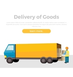 Delivery of goods vector