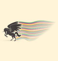flying unicorn vector image