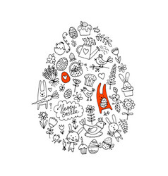 Easter egg icons collection for your design vector