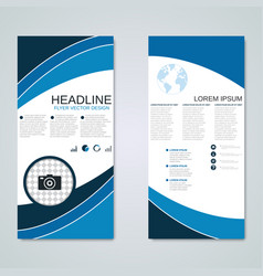 Modern roll-up business banners template vector