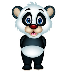 Cute cartoon panda vector
