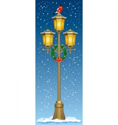 Christmas street lantern vector