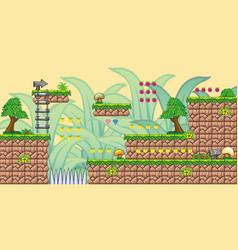 2d tileset platform game 8 vector