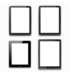 Modern computer tablets on white vector
