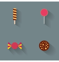 Abstract delicious candies vector