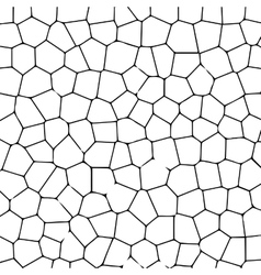 Black and white texture of cracked ground vector