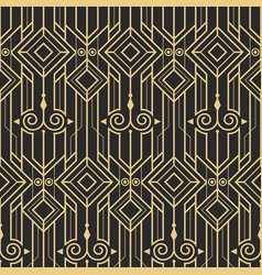 abstract art deco modern seamless pattern vector image vector image