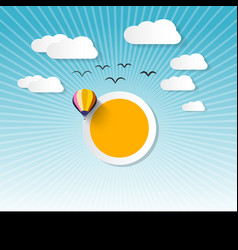 abstract landscape wit sun vector image vector image