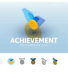 Achievement icon in different style vector
