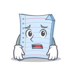 Afraid notebook character cartoon design vector