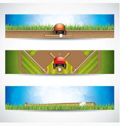 Baseball banners vector