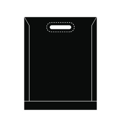 Blank plastic bag icon vector