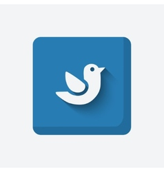 blue bird symbol vector image