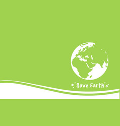 Collection happy earth day green background vector