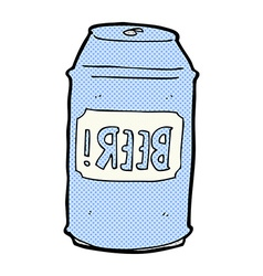 comic cartoon beer can vector image vector image
