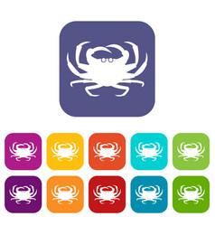 crab icons set vector image