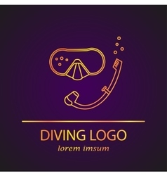 diving logo vector image vector image