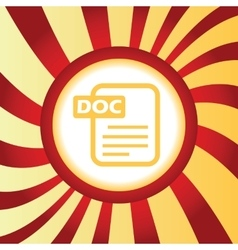 Doc file abstract icon vector