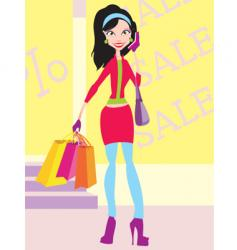 graphic girl vector image vector image