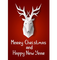 Greeting card with deer vector image