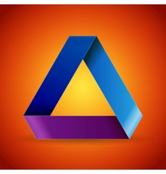 Moebius origami colorful paper triangle vector image vector image
