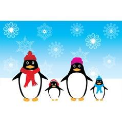 Penguin family vector
