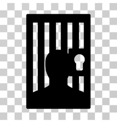 Prison door icon vector