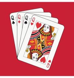 queens poker vector image