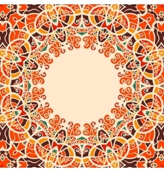 Round Frame Oriental Style Warm Color vector image vector image