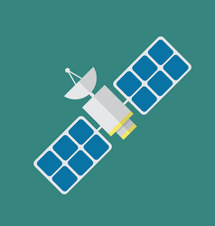 satellite in flat style vector image vector image