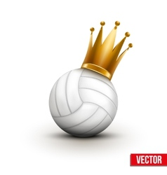 Volleyball ball with royal crown of princess vector image vector image