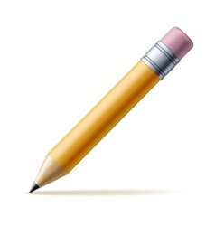 Yellow pencil vector image vector image