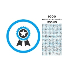Guarantee Rounded Icon with 1000 Bonus Icons vector image