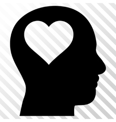 Lover head icon vector