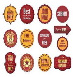 Set of badges and stickers vector