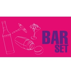Bar  restaurant theme vector