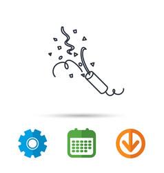 shooting slapstick icon celebration sign vector image