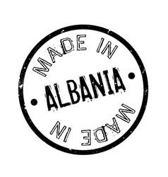 Made in albania rubber stamp vector