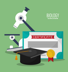 Collection science biology icons vector
