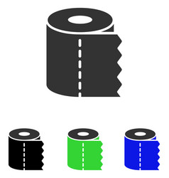 Toilet paper roll flat icon vector