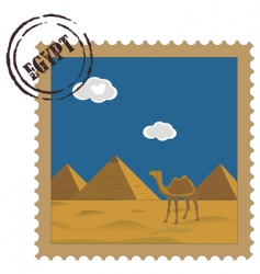postal stamp vector image