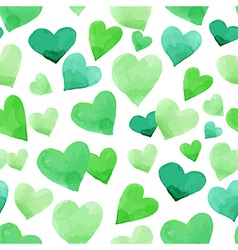 Background with watercolor hearts vector image